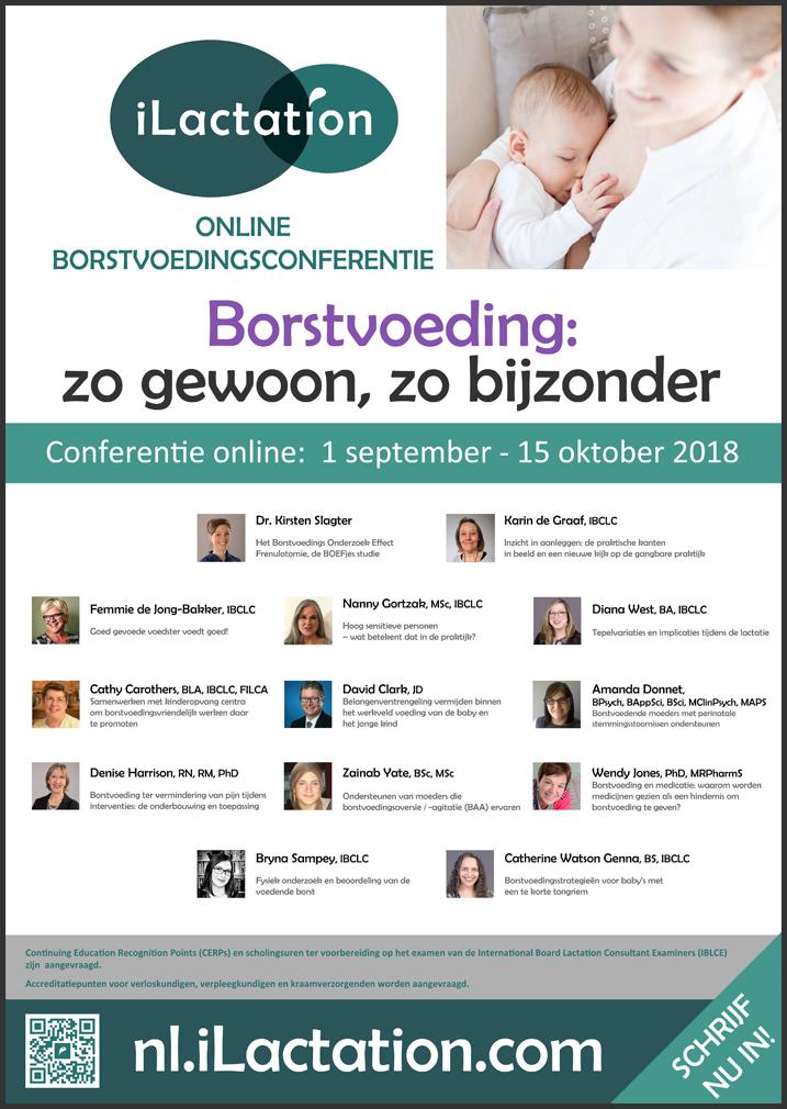 Poster conferentie - Borstvoeding: zo gewoon, zo bijzonder