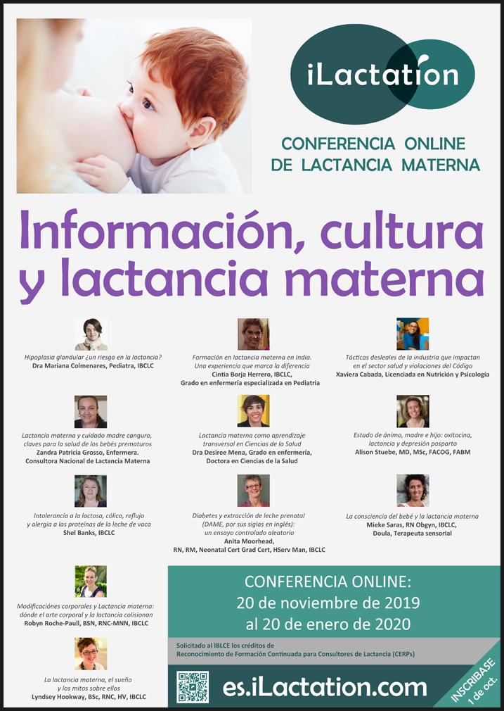 Póster de la conferencia - Información, cultura y lactancia materna