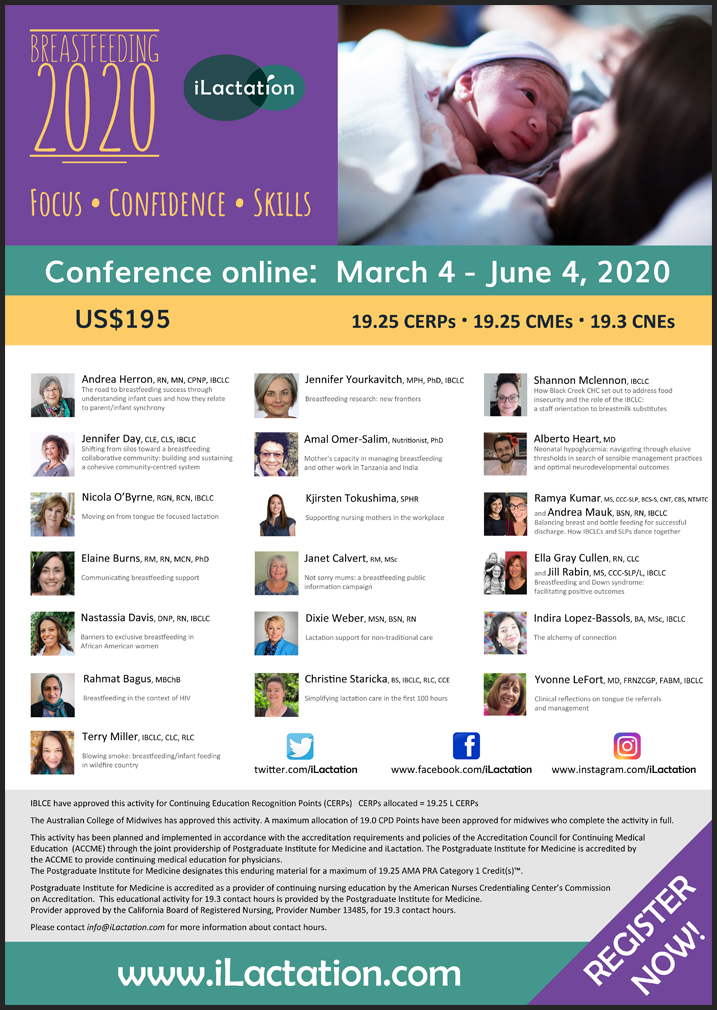 Conference poster - Breastfeeding 2020: Focus • Confidence • Skills