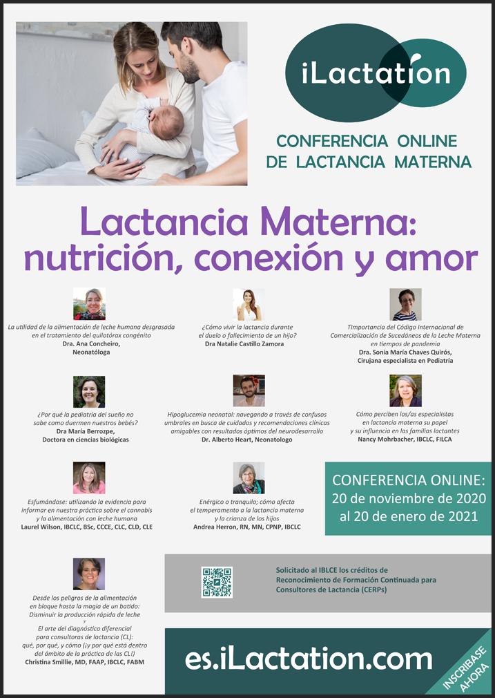 Póster de la conferencia - Lactancia Materna: nutrición, conexión y amor