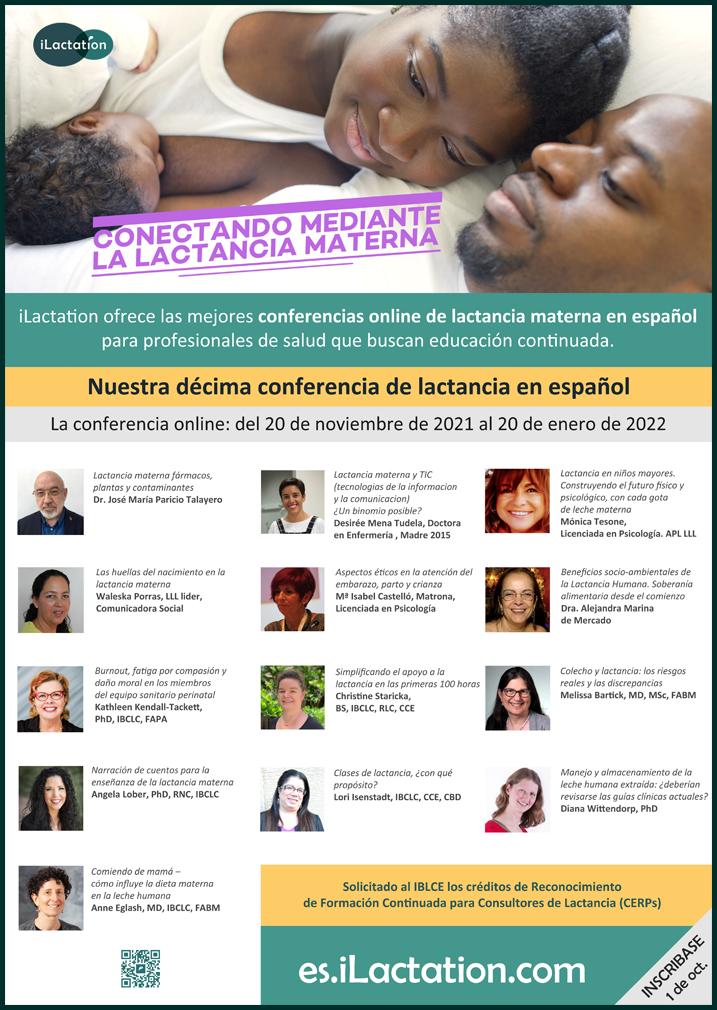 Póster de la conferencia - Conectando mediante la lactancia materna